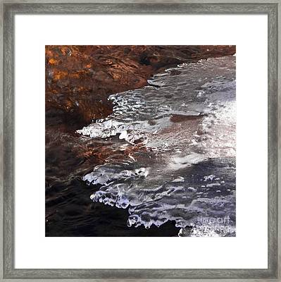 Stream Edge Ice Framed Print