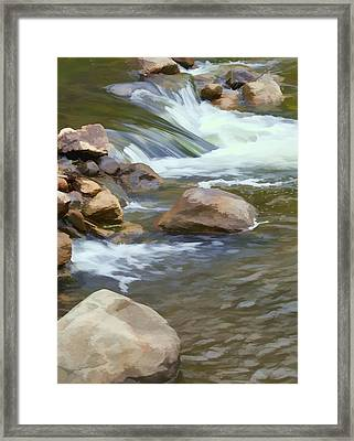 Framed Print featuring the photograph Stream by John Crothers
