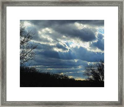 Framed Print featuring the photograph Streaming by Mary Zeman