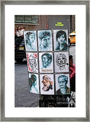 Street Art Nyc Framed Print by Edward Sobuta