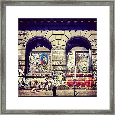 Street Art On The Bowery - New York City Framed Print