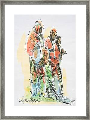 Street Band Framed Print by Carey Chen