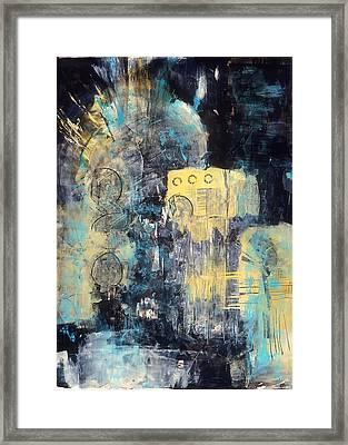 Street Blues Framed Print by Marie Cummings
