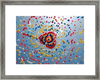 Street Carniavl Decoration Framed Print by Jeff Lewis