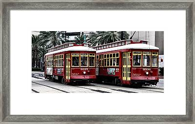 Street Cars On Canal Street Framed Print by Bill Cannon