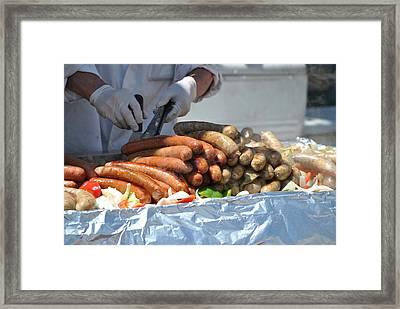 Street Fair Fare Framed Print by Nimmi Solomon