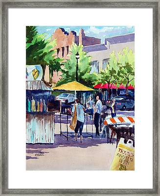 Street Fare Framed Print by Ron Stephens