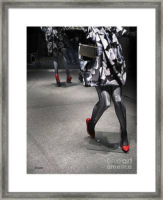 Street Fashion Framed Print by Eena Bo