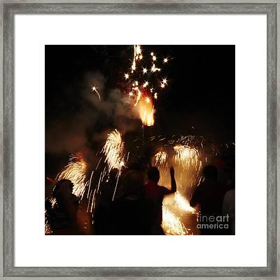 Street Fire Framed Print by Agusti Pardo Rossello