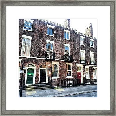 #street #houses #liverpool #buildings Framed Print by Abdelrahman Alawwad