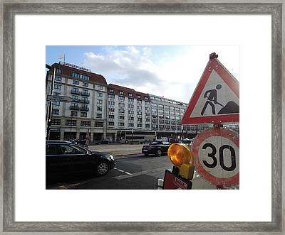Street In Berlin Framed Print by Chung Chui Leung