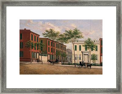 Street In Brooklyn Framed Print by American School