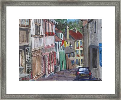 Street In Dinan Framed Print by Heidi Patricio-Nadon