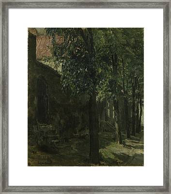 Street In Lubeck - Germany Framed Print by Signe Scheel