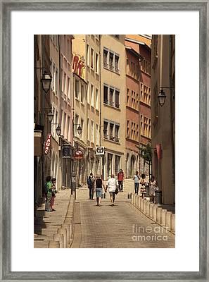street in Lyon  Framed Print