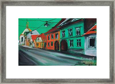 Street In Transylvania 2 Framed Print