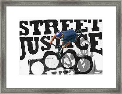 Street Justice Framed Print