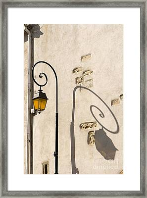 Street Lamp And Shadow Framed Print by Igor Kislev