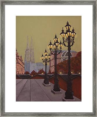 Street Lamps Framed Print by Jennifer Lynch
