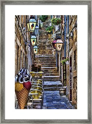 Street Lane In Dubrovnik Croatia Framed Print by David Smith