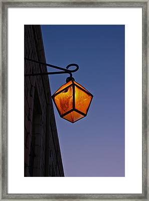 Street Light Framed Print by Amr Miqdadi