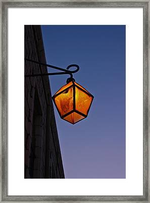 Street Light Framed Print by Amr Miqdadi