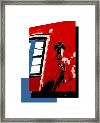 Street Light Collage Framed Print by Xoanxo Cespon