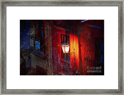Street Light On Calle Quebrada Framed Print
