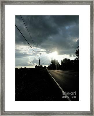 Street Lights Framed Print by Trish Hale