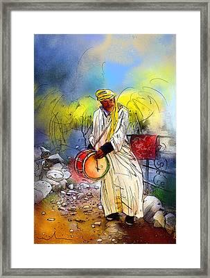 Street Musician In Setti Fadma Framed Print by Miki De Goodaboom