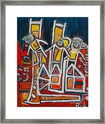 Street Musicians Framed Print by Agnes Roman
