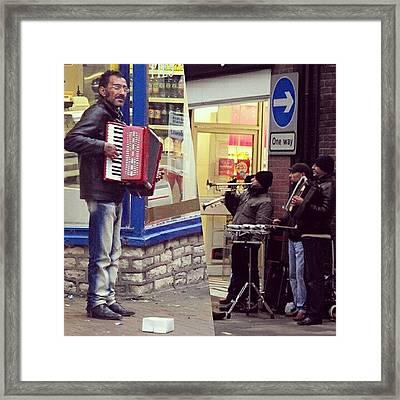 #street #musicians In #oswestry #wales Framed Print