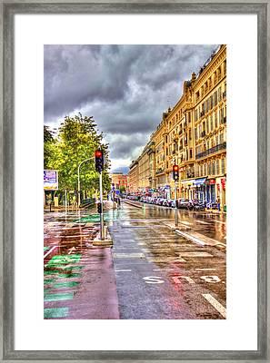 Street Of Niza Framed Print by David Armas