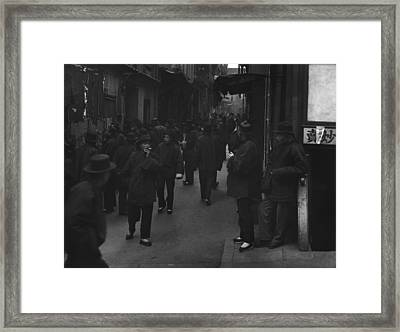 Street Of The Gamblers Ross Alley Framed Print by Everett