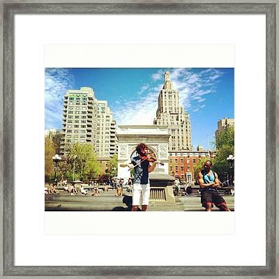 Street Performance Framed Print