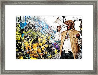 Street Phenomenon Busta Framed Print by The DigArtisT