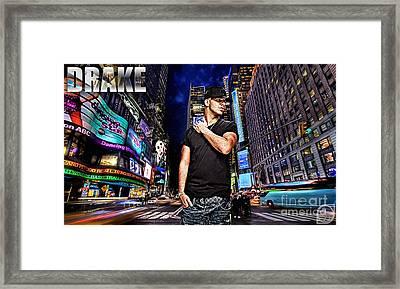 Street Phenomenon Drake Framed Print by The DigArtisT