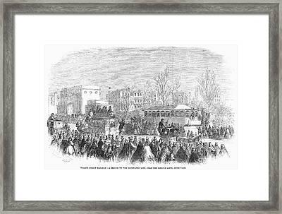 Street Railway, 1861 Framed Print by Granger