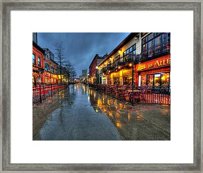 Street Reflections Framed Print