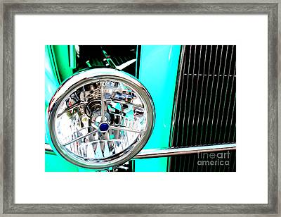 Framed Print featuring the digital art Street Rod Beauty by Tony Cooper