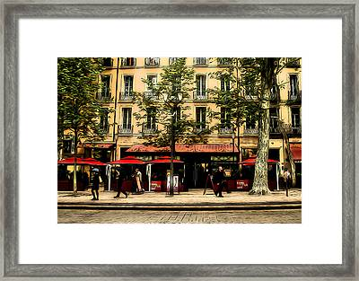 Street Scene Framed Print by Jim Painter