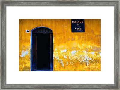 Street Scene La Antigua Framed Print by Thomas R Fletcher