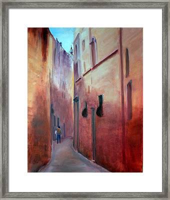 Street Scene  Malta Framed Print