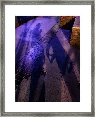 Street Shadows 004 Framed Print by Lon Casler Bixby