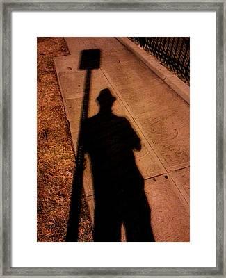 Street Shadows 008 Framed Print