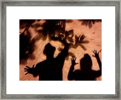 Street Shadows 010 Framed Print