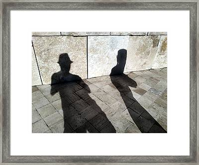Street Shadows 020 Framed Print by Lon Casler Bixby