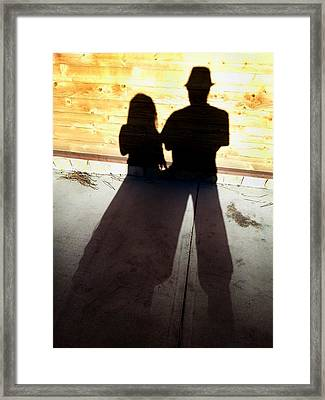 Street Shadows 022 Framed Print by Lon Casler Bixby