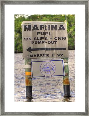 Street Sign Framed Print by Barry R Jones Jr