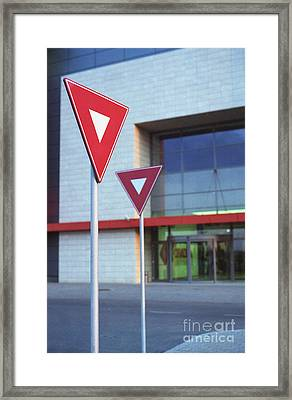 Street Signs Framed Print by Cosmin Munteanu